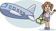 Cartoon of Girl traveling