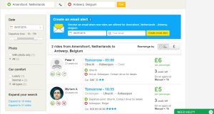 Find a ride blablacar